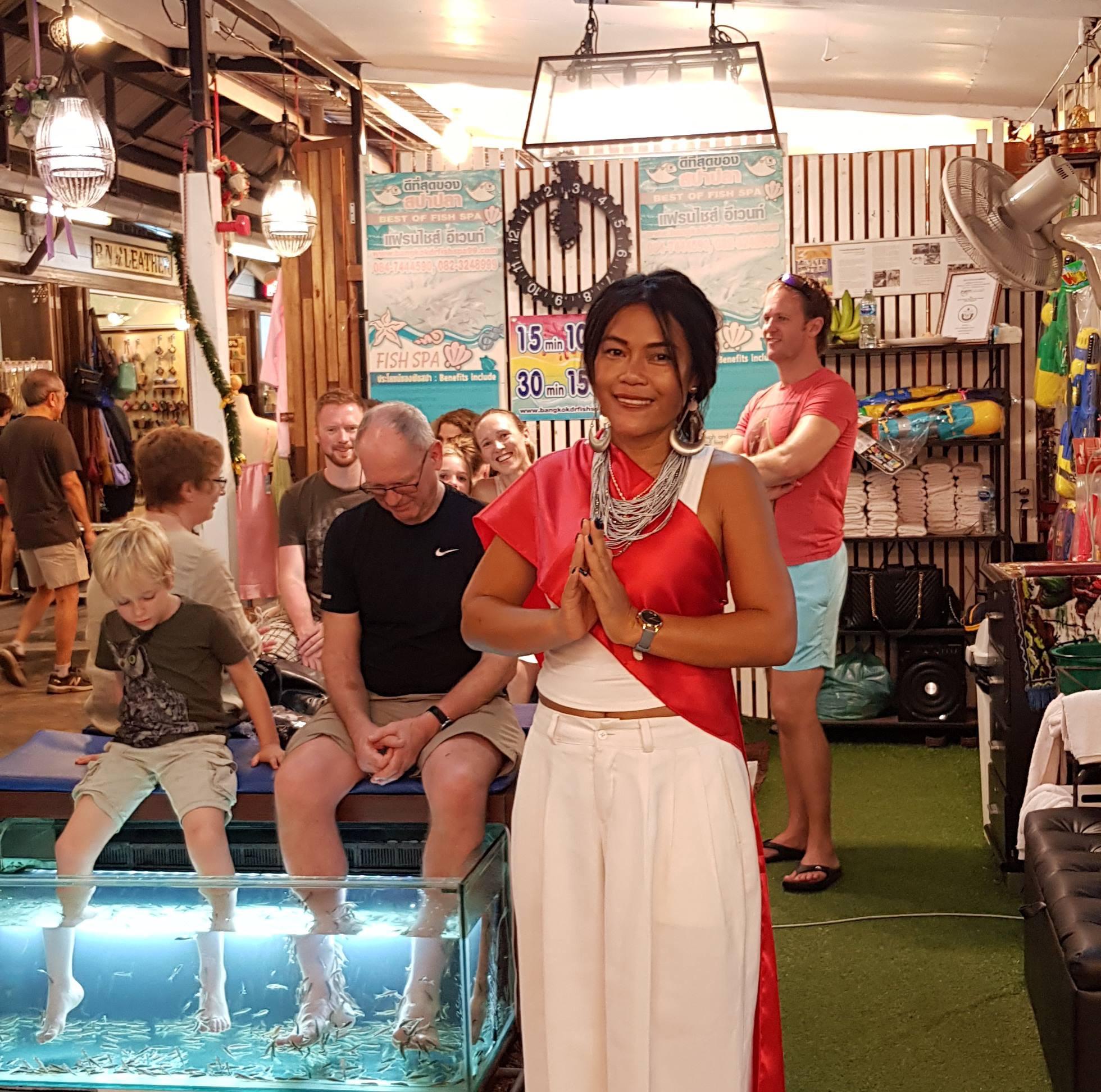 Hua hin Thailand fish spa owner