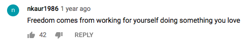 YouTube Rat Race Comment 1