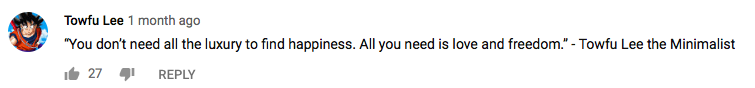 YouTube Rat Race Comment 4