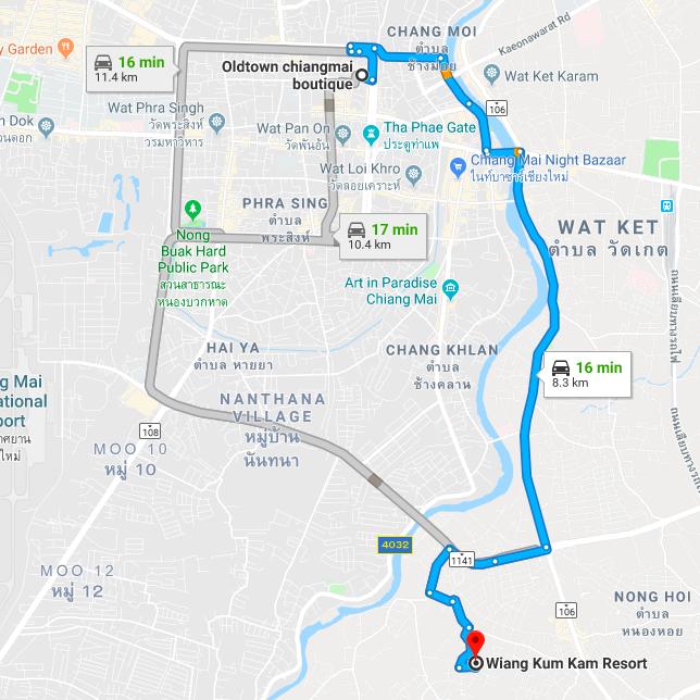 Wiang Kum Kam Resort Map BeFreeMySheeple