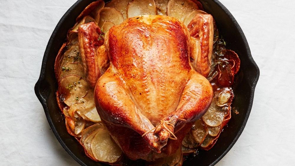 Roast chicken dish