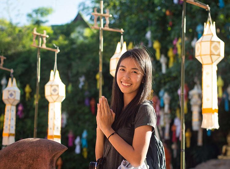 Thailand greeting wai