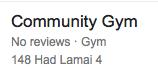 Community Gym Lamai Beach