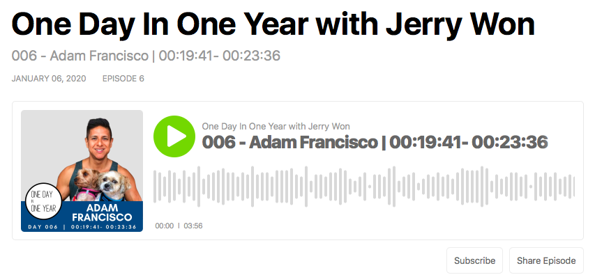 I Just Did My First Podcast (One Day In One Year Podcast)