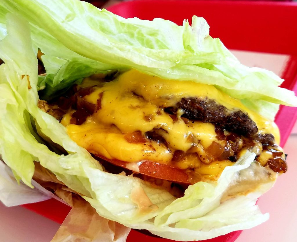 In N Out Protein Style Burger