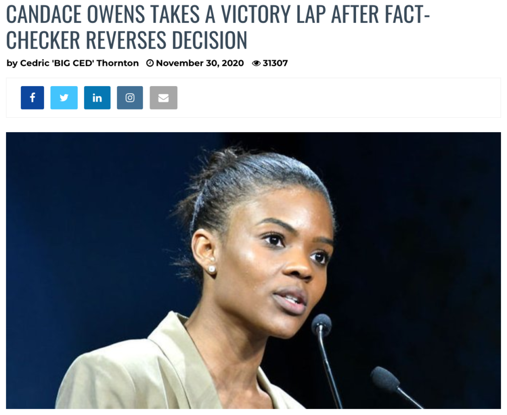 Candace Owens fact checker