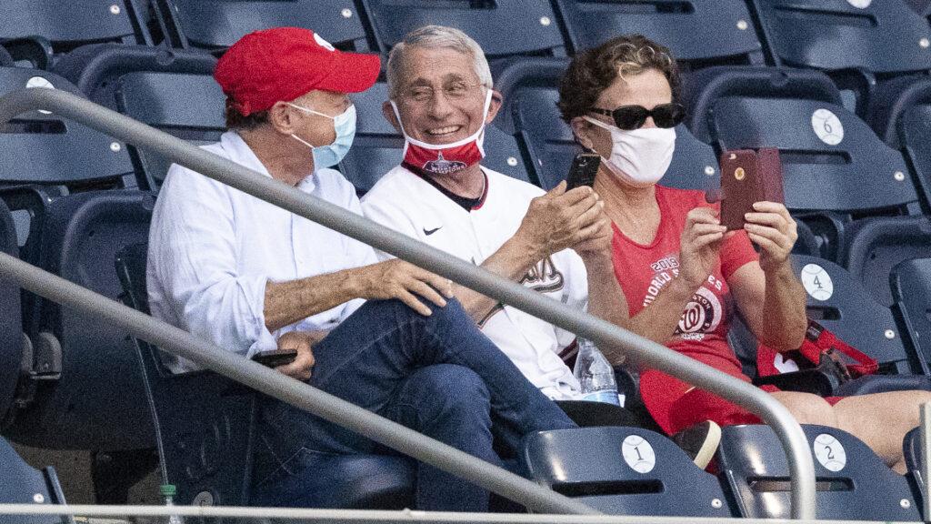 dr fauci baseball game